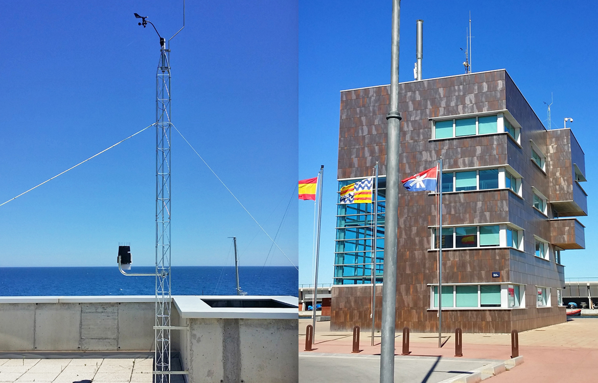Darrera installs the new weather station of the Badalona Marina and Fishing Port