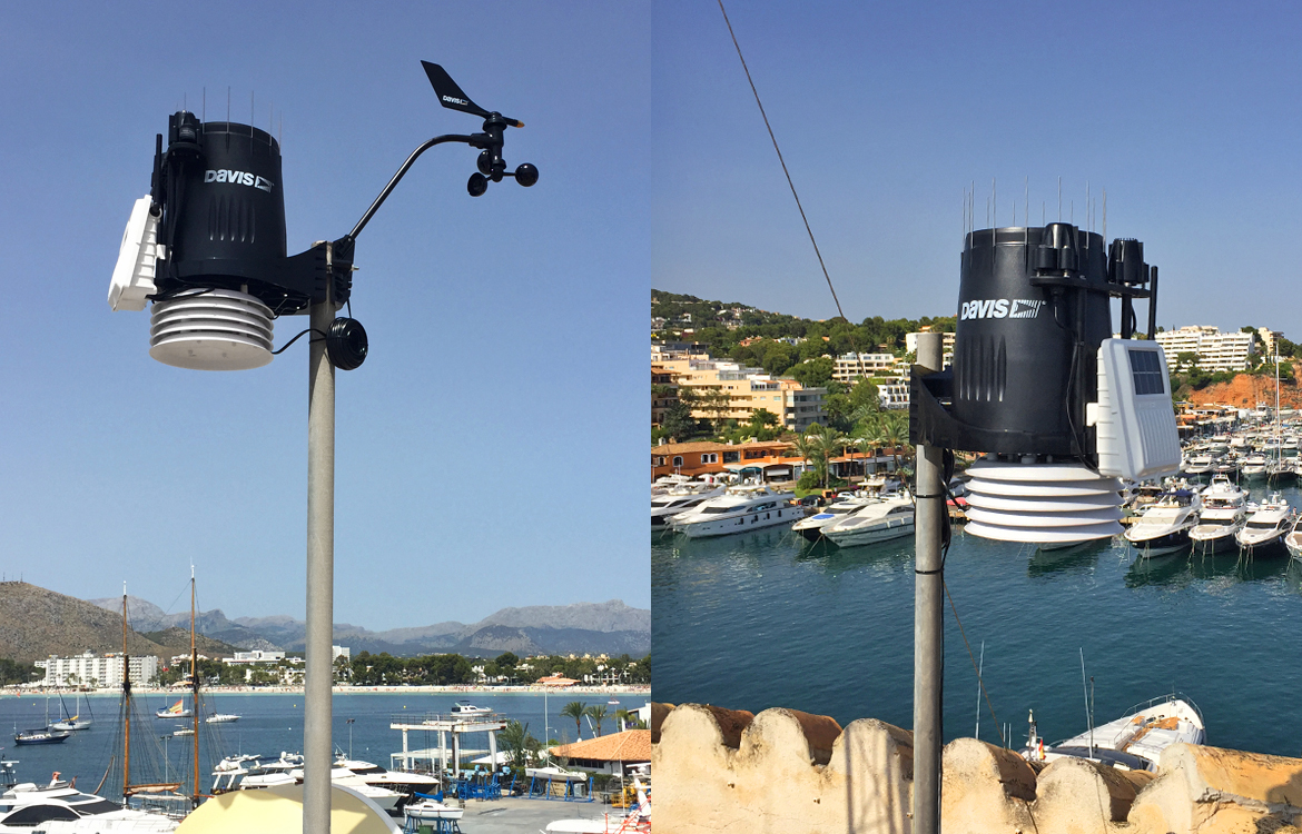 Darrera installs in Mallorca the new weather stations of Alcudiamar and Puerto Portals