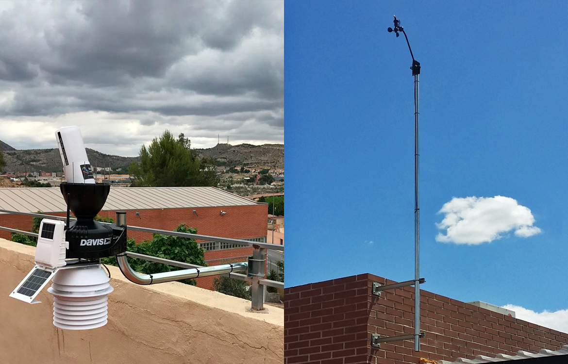 Darrera installs the new municipal weather station of Elda