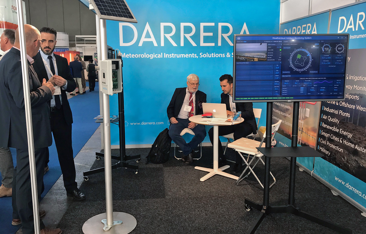 Darrera exhibits at the Meteorological Technology World Expo 2018 in Amsterdam