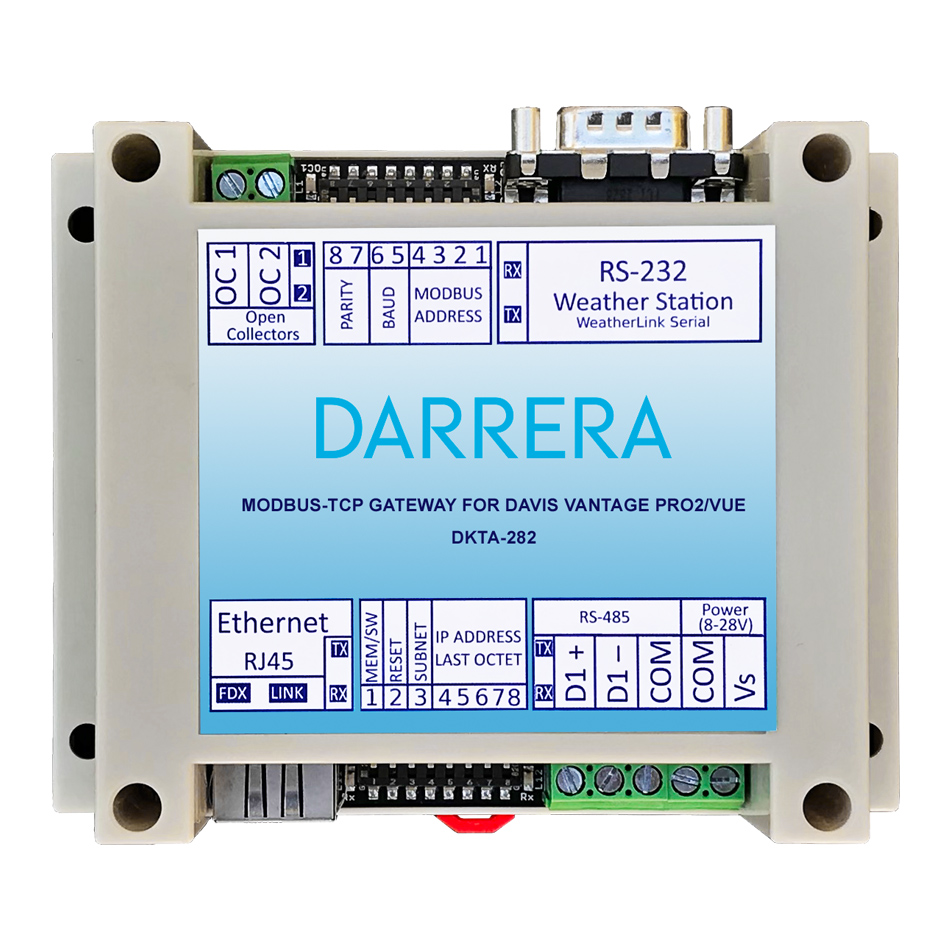 MODBUS-TCP Gateway for Vantage Pro2™/Vantage Vue® | Darrera