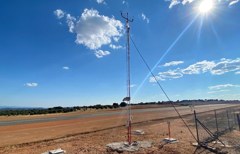 Darrera installs the new weather station of La Cuesta aerodrome in Ciudad Real